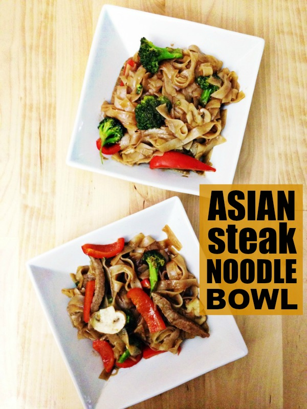 This Asian steak noodle bowl is the perfect meal to whip up for dinner whether you're on your own, with your significant other, or cooking for a group of friends! It's quick, tasty and has the authentic Asian flavour that I love.