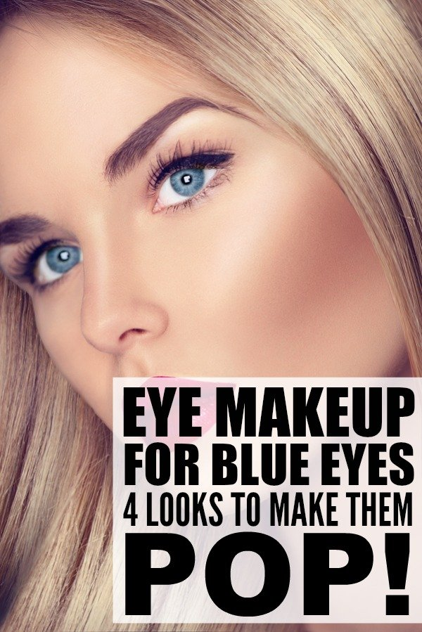 Makeup for blue eyes and
