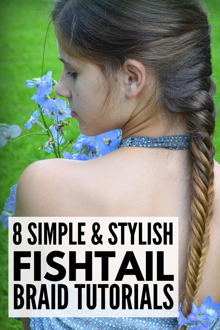 8 Fishtail Braid Hairstyles for Long Hair | Whether you're looking for a basic fishtail braid 'how to' tutorial for everyday, or want something more complicated like a side, dutch, messy, crown, or double fishtail braid updo for a big night out or a wedding, we've rounded up 8 styles you will fall in love with. Have short hair? We've included a couple of product recos to help keep flyaways in place.