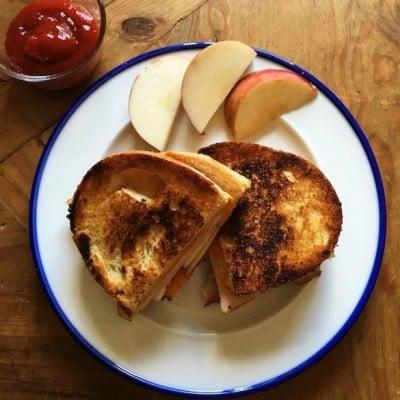 Grilled Turkey Apple Cheddar