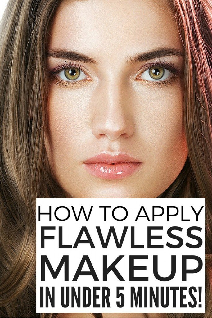 How To Apply Flawless Makeup In 5 Minutes Or Less