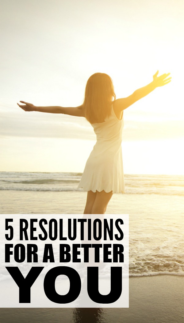 Stop setting yourself up for failure by setting unrealistic weight loss goals and committing to diet plans you know you're not going to keep and make these 5 resolutions for a better you instead!