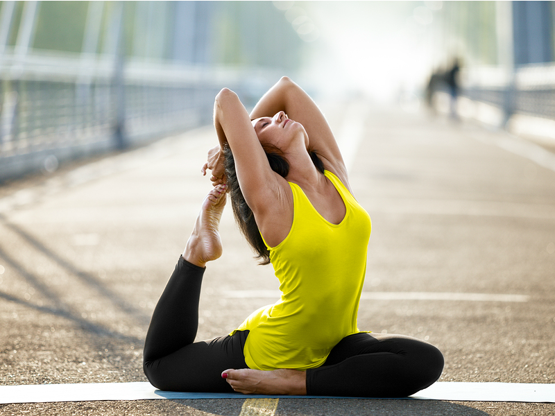 One of the many benefits of yoga is that it allows you to improve your flexibility, which helps with pain, stiffness, and stability, and while many people think you have to be flexible to practice yoga, it's actually the opposite: the more your practice, the more flexible you will become. Add these yoga stretches for flexibility into your daily/bi-daily routine and remember: having a strong and fit body is one thing, but have a flexible body is key to maintaining it.