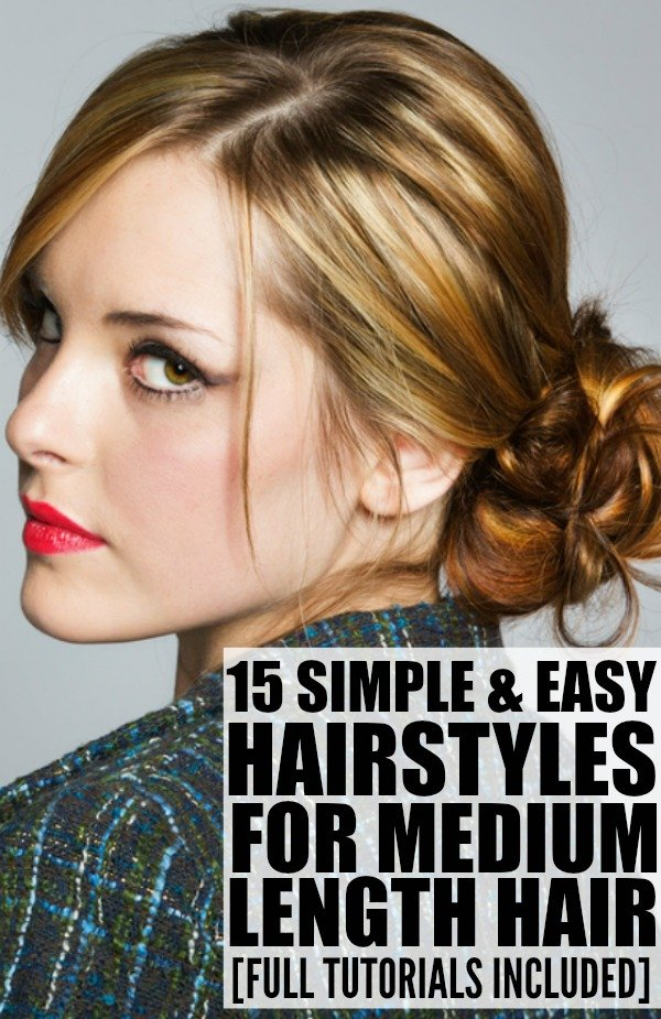If you're trying to add a little bit of style to your hair, but your locks aren't long enough to pull off the looks you see in your favorite magazines, this collection of hairstyles for medium length hair is for you! These updos are perfect if you're looking for simple and easy wedding hairstyles or prom hair ideas, and are fabulous dirty hair styles for lazy mornings.