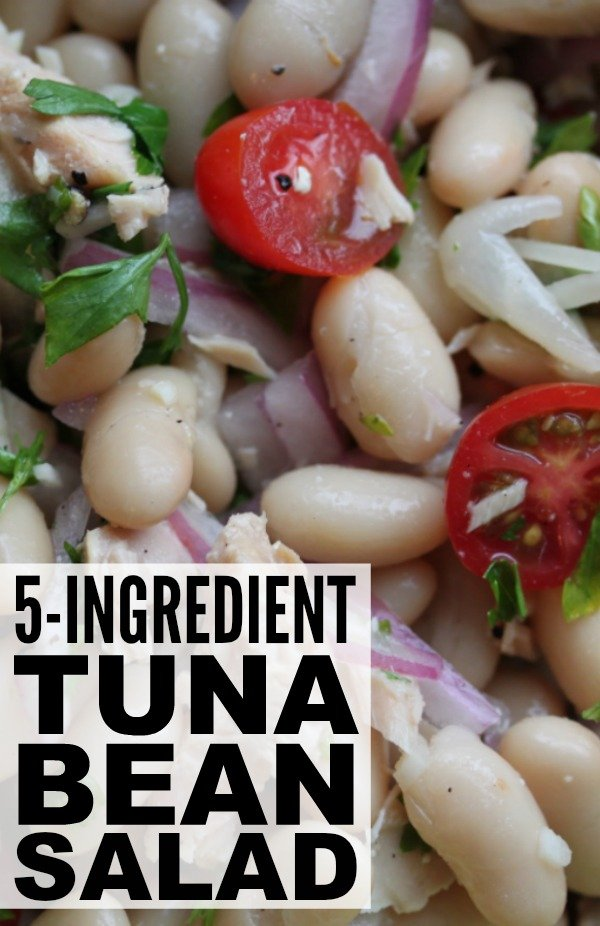 This traditional Italian tuna bean salad is my new go-to meal when I'm in a bind. Beans are the perfect superfood - they're inexpensive, easy, low in bad fat, high in fiber, and extremely filling - and since I'm rarely without each of these ingredients, it's one of my favorite 10 minute meals to throw together when I need something delicious FAST. Enjoy!