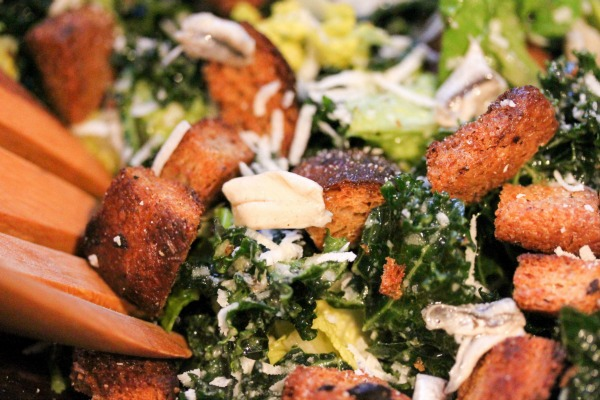 If you're looking for a new kale recipe to add to your weekly menu plans, this Kale Caesar Salad will NOT disappoint. The anchovies, which are high in protein, chocked full of minerals and vitamins, and a great anti-inflammatory food, add the perfect amount of saltiness. And for those of you who aren't a fan of eggs (raw or otherwise), the egg-free dressing in this recipe will please your palette.