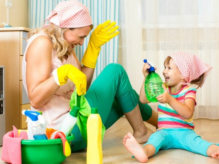 If you like having a clean, germ-free home, but don't have time to scrub and sanitize on the regular, this collection of cleaning hacks for busy moms is for you. I find these tips especially helpful during cold and flu season, and trick # 7 is my new favorite. What cleaning hacks would you add to this list?