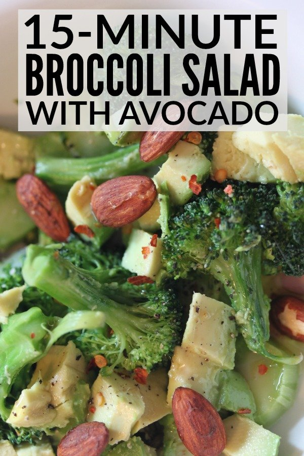 If you're looking for healthy recipes to add to your weekly menu planning to help you get in shape in time for summer, this broccoli salad with avocado is a must-try. The broccoli is cooked ever so slightly to ensure it retains its crunch without being too difficult to digest, and pairing it with something fatty and wonderful like avocado makes this one of the most delicious salad recipes you'll ever consume. Also? It takes less than 15 minutes to prepare. Easy, peasy.