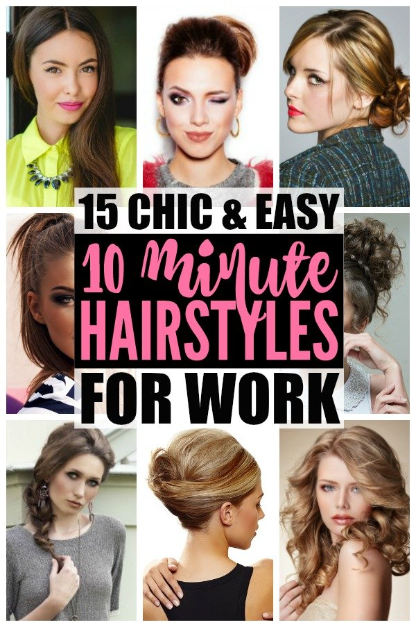 Hairstyles For Work 15 Easy Hairstyles For Hectic Mornings