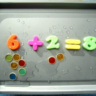 No Prep Magnetic Number Soup Sensory Activity