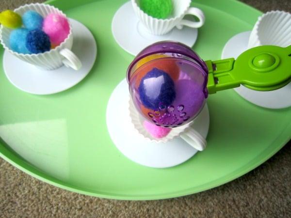 Mother's Day Activities for Kids Tea Cup Sensory Bin 6