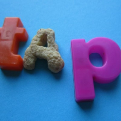 Simple Alphabet Sensory Bin: Learning Letters with Food!