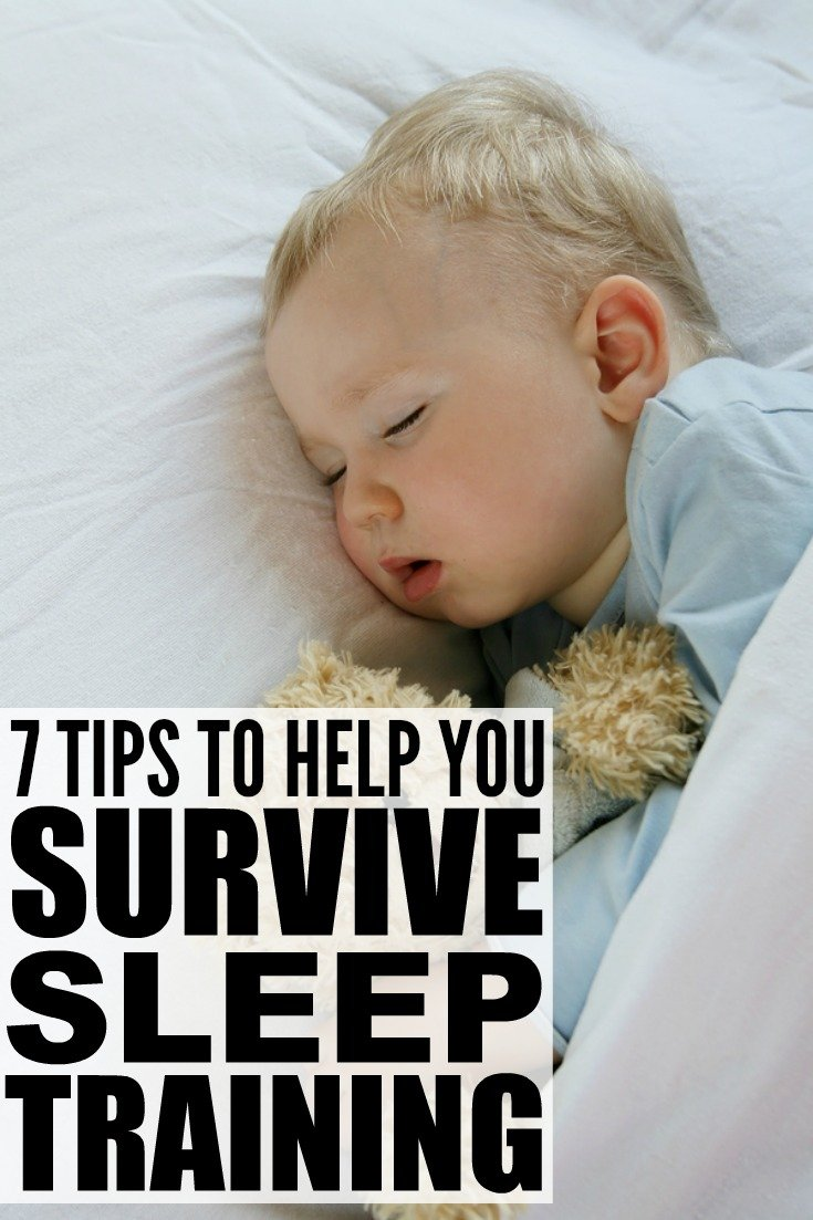 Sleep training a baby is one of the hardest things I've EVER done. I'm not a fan of the cry-it-out (CIO) / Ferber Method, but found a lot of the No Cry solutions didn't work, and my almost 1-year-old was just as exhausted as my husband and me when she was up multiple times a night. The good news? I now have 7 fabulous sleep training tips and tricks to help parents find their way back to a full night of sleep!