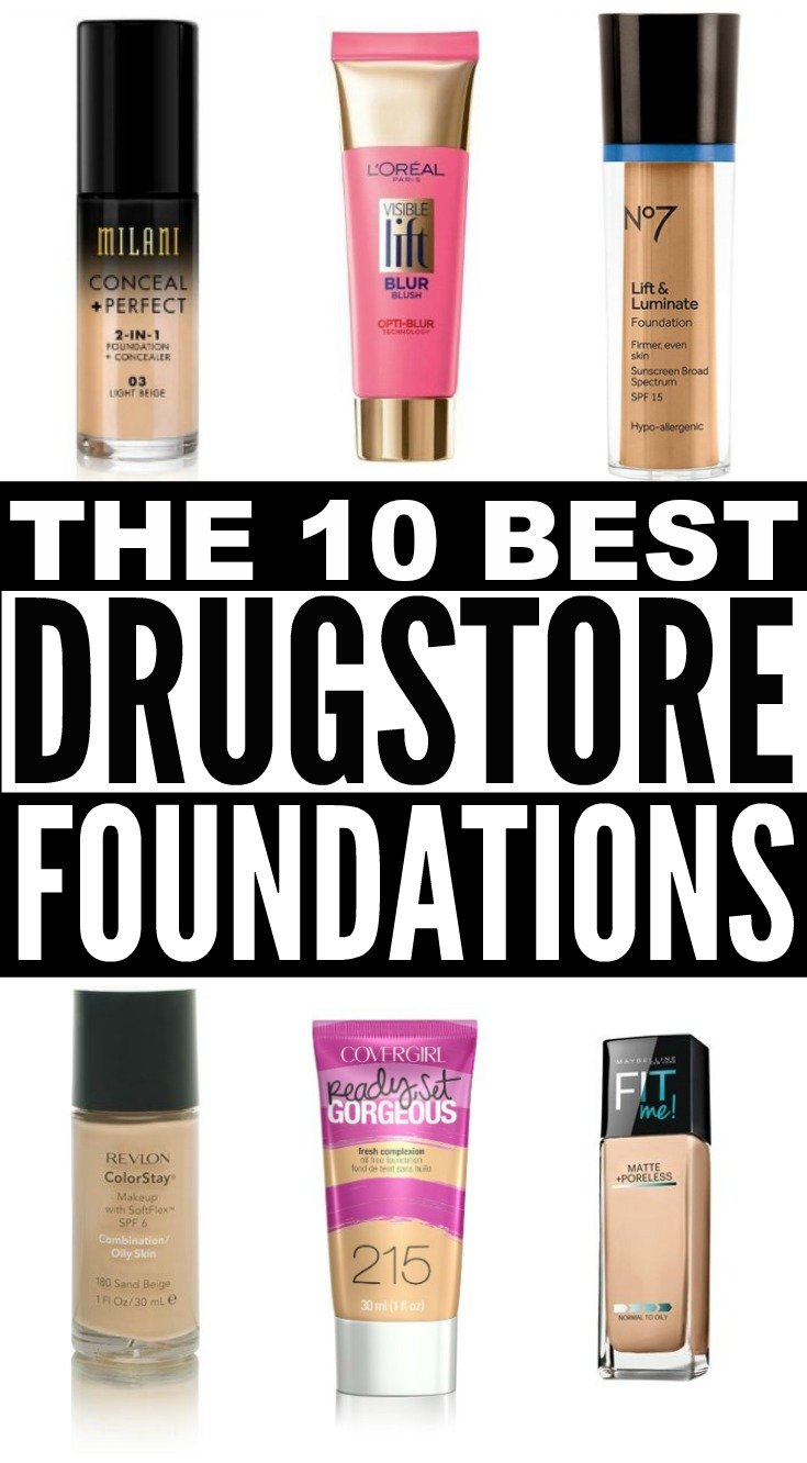 Looking for the best drugstore foundation that will give you a sexy, dewy finish (or a matte finish, if you're trying to look good for pictures) while still allowing full coverage for oily skin, for acne prone skin, for dry skin, or for combination skin? We've got you covered. We've tested them all and have narrowed it down to our top 10 picks of 2016. Who says flawless skin needs to be expensive, anyway?!