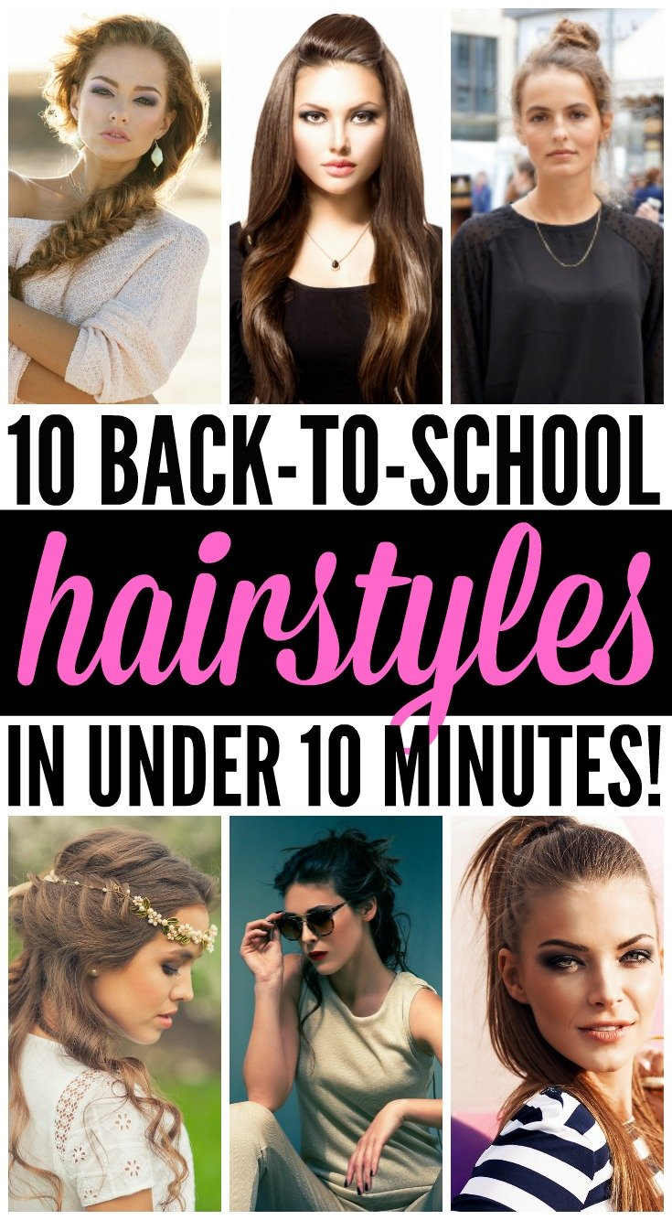If you're looking for back-to-school hairstyles for short, for medium, or for long hair, we've got you covered. We've rounded up 10 cute looks for kids and teens that will take you from fall straight through until summer. Whether you like a simple messy bun or top knot, or prefer braids, waves, or curls, these step-by-step tutorials will help you look fabulous year-round in less than 10 minutes – even on days when you're running late and have to skip the shampoo!