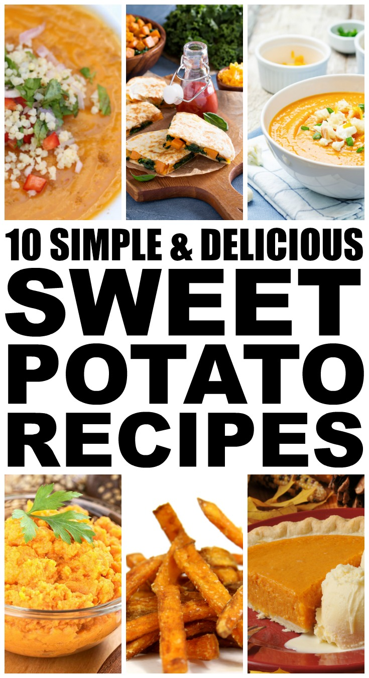 Sweet potatoes are full of Vitamin D (good for immunity) and fiber (good for weightloss), which is why I try to add at least 2 of these sweet potato recipes to my weekly meal plan. Whether you enjoy yours roasted, baked, mashed, pureed in a soup, or candied in a dessert, this collection of sweet potato recipes offers an easy way to load up on this superfood. And for those who are trying to be healthy, we've added a link to the Pioneer Woman's Lightened Up Sweet Potato Casserole!