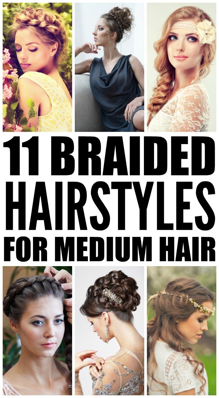 Phenomenal 11 Braided Hairstyles For Medium Length Hair Short Hairstyles Gunalazisus