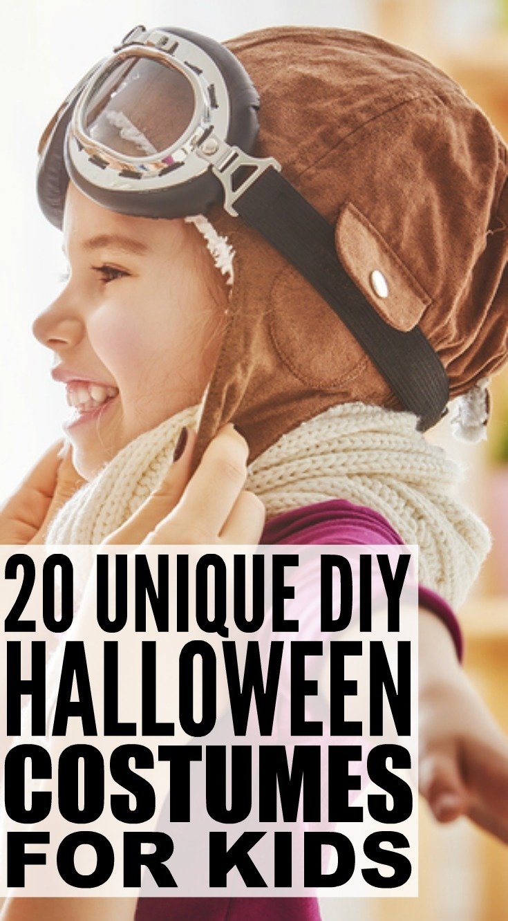 Looking for cheap, easy, and awesome DIY Halloween costumes for kids? We've got you covered. We've rounded up 20 of the best costumes for boys and girls your kids will love. Whether you're the parent of a feisty toddler, or have school-aged kids, these unique no-sew costumes are your ticket to a stress-free Halloween!