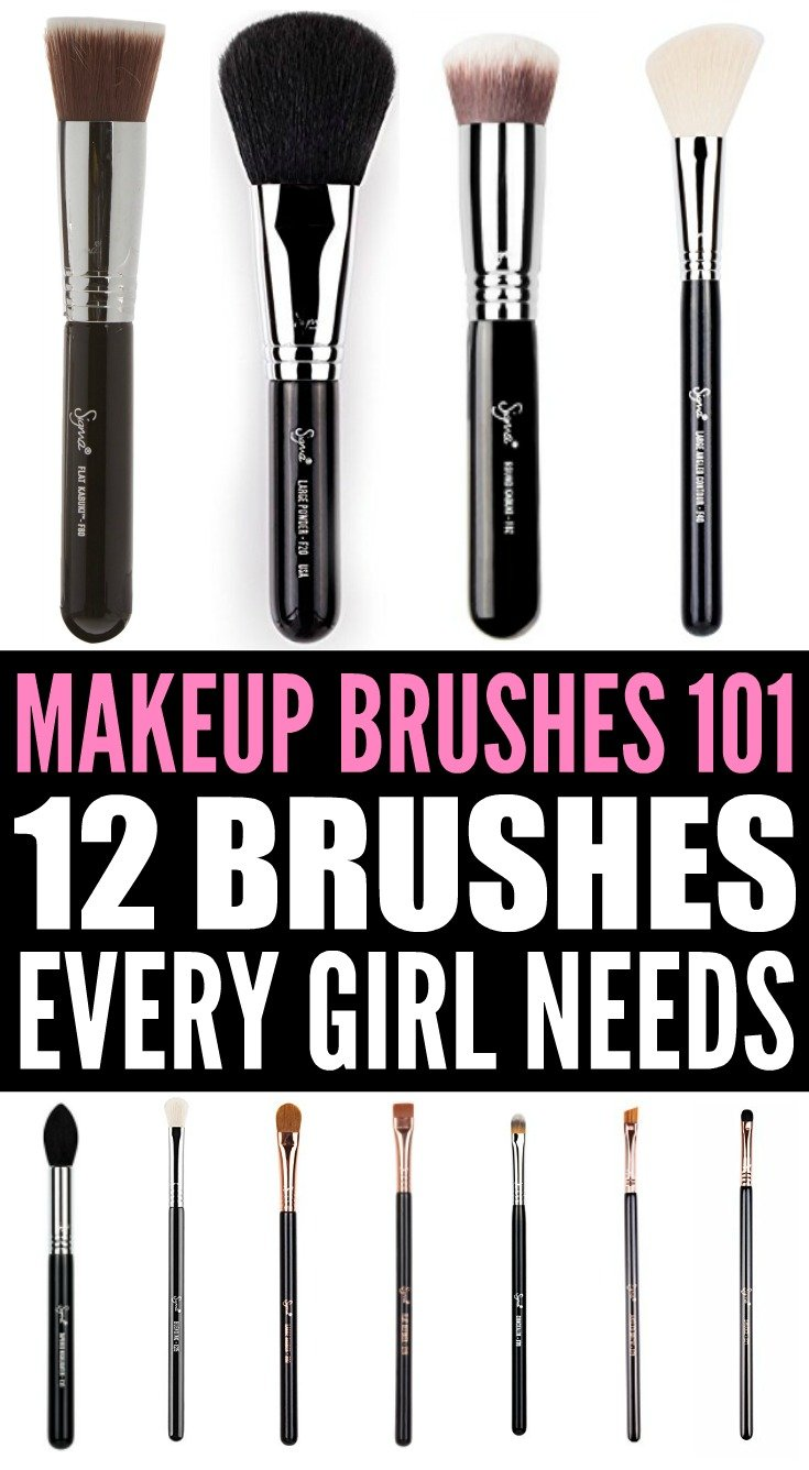 If you're looking for a makeup brushes 101 cheat sheet that explains which tools you need for a flawless face, we've got you covered. From foundation and contouring to eyeshadow and eyeliner, we've got the top 12 affordable makeup brushes every girl needs in her makeup bag. With step-by-step instructions, we're included our best tips on how to use each of these beauties for a perfect look every single time.