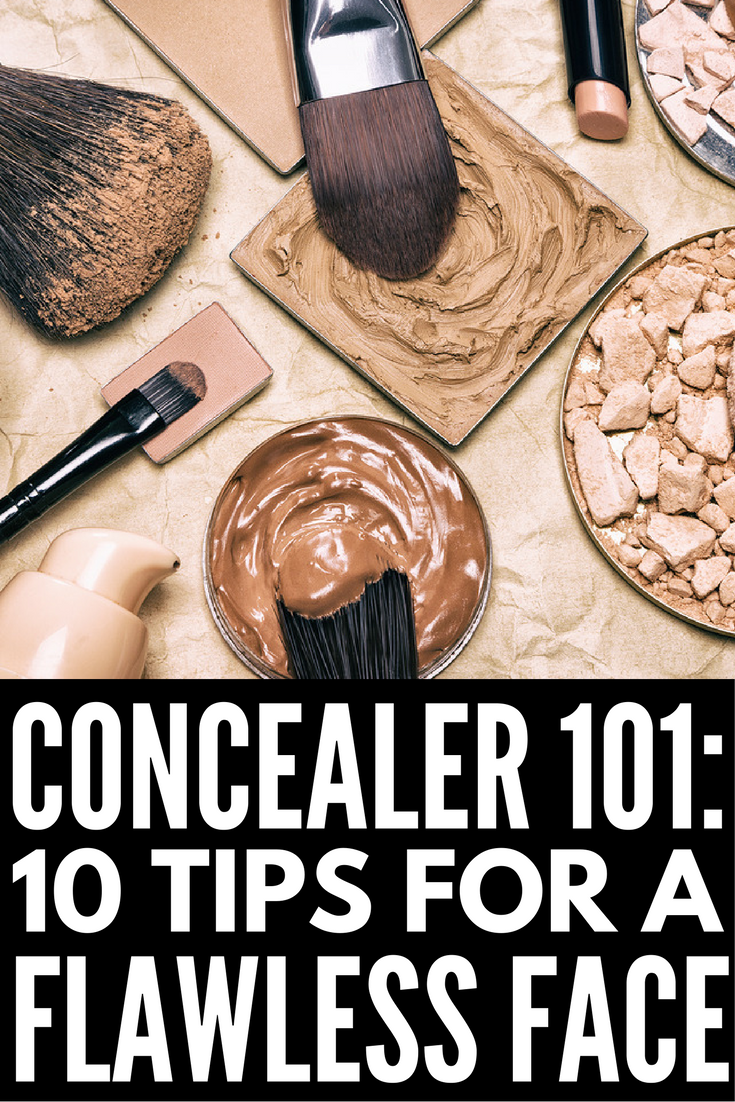 These concealer tips will take you from frustrated to flawless in minutes! Whether you struggle with under eye circles or acne-prone skin, this collection of concealer tips and tricks will teach you the best products and application techniques to reduce redness and hide skin imperfections for a natural look that isn't cakey and doesn't look artificial. Tip 7 is our favorite!