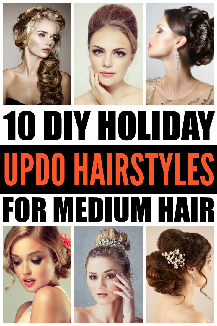 DIY Updo Hairstyles: 10 Holiday Hairstyles for Medium Hair