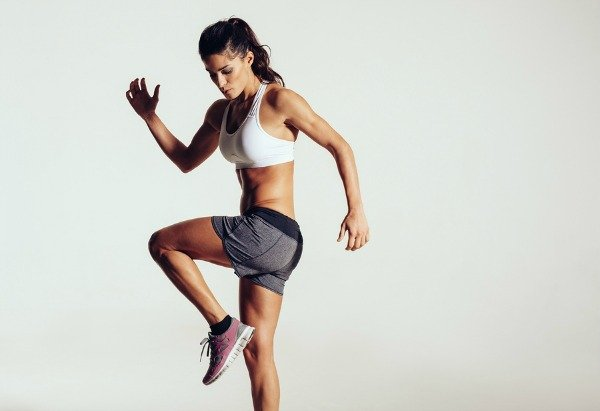 Whether you work out at home or at the gym, these HIIT workouts for beginners will help you burn more calories in less time. A combination of cardio, weights, and quick, effective exercises, we've rounded up 10 fat burning high intensity interval training exercises that will give you a full body workout that delivers serious results. Sick of running on the treadmill or sweating through an hour on the elliptical machine? Challenge yourself to a 30-day HIIT challenge. You won't regret it!