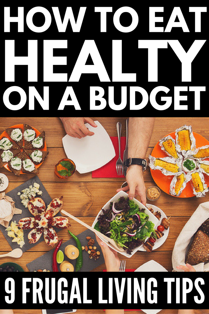 Looking for pointers to teach you how to eat healthy on a budget? We've got you covered. With 9 simple ideas you can implement today, we'll teach you our best frugal living tips for eating healthy while on a fixed income. From meal planning and creating a killing shopping list, to buying in season and learning how to get the best bargains at your local farmers' market, we've got 9 great tips to teach you how to lose weight on a budget!