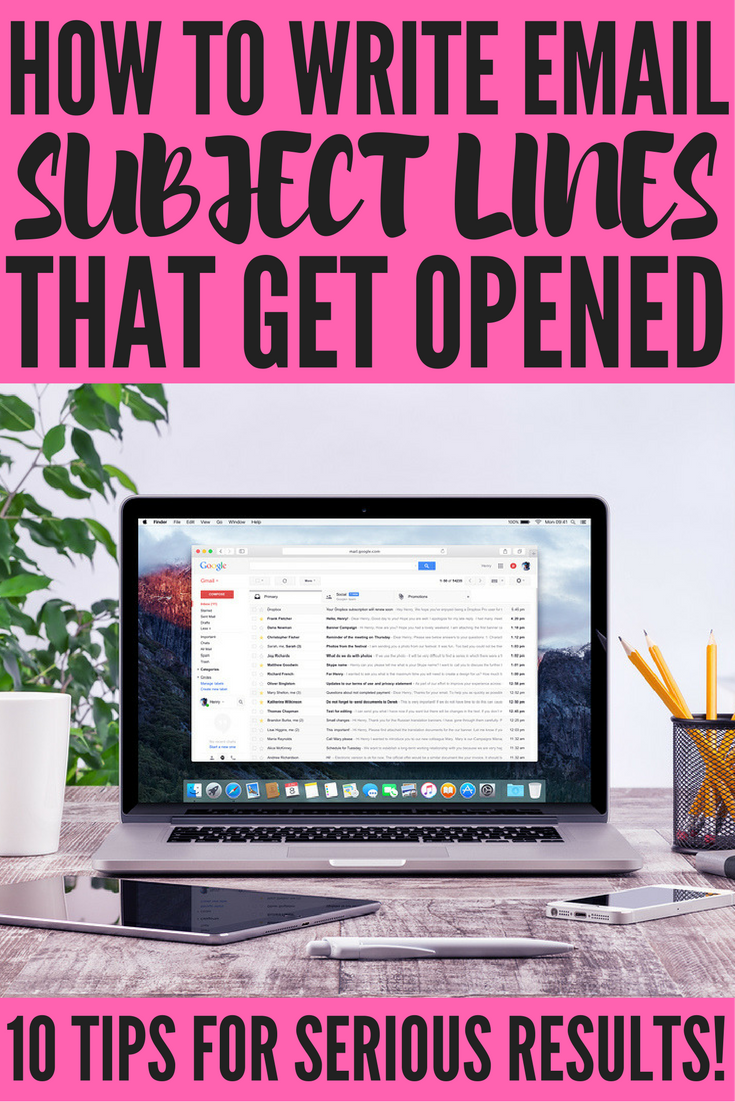 Want to know how to write the BEST email subject lines to get your audience to open your emails and buy your products? We've got you covered. With 10+ simple tips you can implement today, we're going to teach you the art of writing email subject lines that convert for you and your business. Make sure to pay attention to the trick for Gmail, Yahoo, Outlook, Apple Mail, and AOL users – it's important!