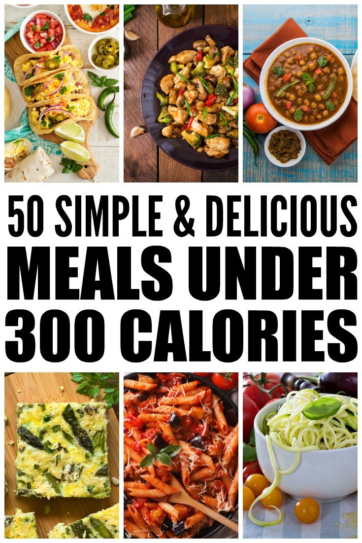 Lose weight without starving with this collection of 50 meals under 300 calories! These healthy, low carb, and super easy recipes are a cinch to whip up and are delicious to boot! With lots of breakfast, lunch, and dinner recipes to choose from, as well as vegetarian options, these filling meals will satisfy your hunger while also helping you lose weight and get back into shape. Being skinny never tasted so good!