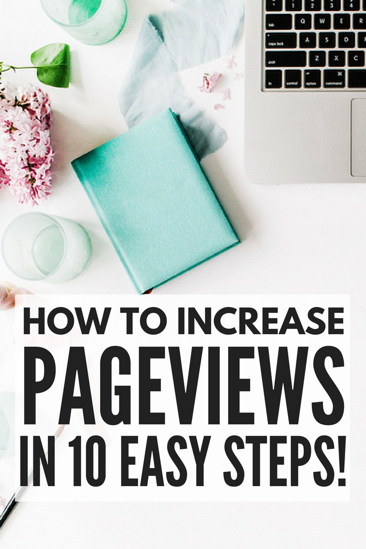 If you want to know how to increase pageviews on your blog without selling your soul, we're sharing 10 simple strategies you can implement TODAY to drive more traffic to your website. From search engine optimization and social media promotions, to increasing pageviews per visitor, harnessing the power of social media promotion, and creating a lead magnet that converts, these blogging tips will teach you how to get more pageviews on your blog so you can get more eyes on your content and products!