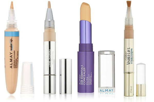 Looking for affordable drugstore concealers to help you hide acne and under eye circles? We're sharing our fave drugstore concealers to help you get a flawless face for half the price. Some of these full coverage concealers work triple duty, while others offer a subtle highlighter to brighten and refresh the eyes. No matter which drugstore products you prefer – Maybelline, CoverGirl, NYX Cosmetics – these makeup artist approved concealers will hide imperfections for a clear, natural look!
