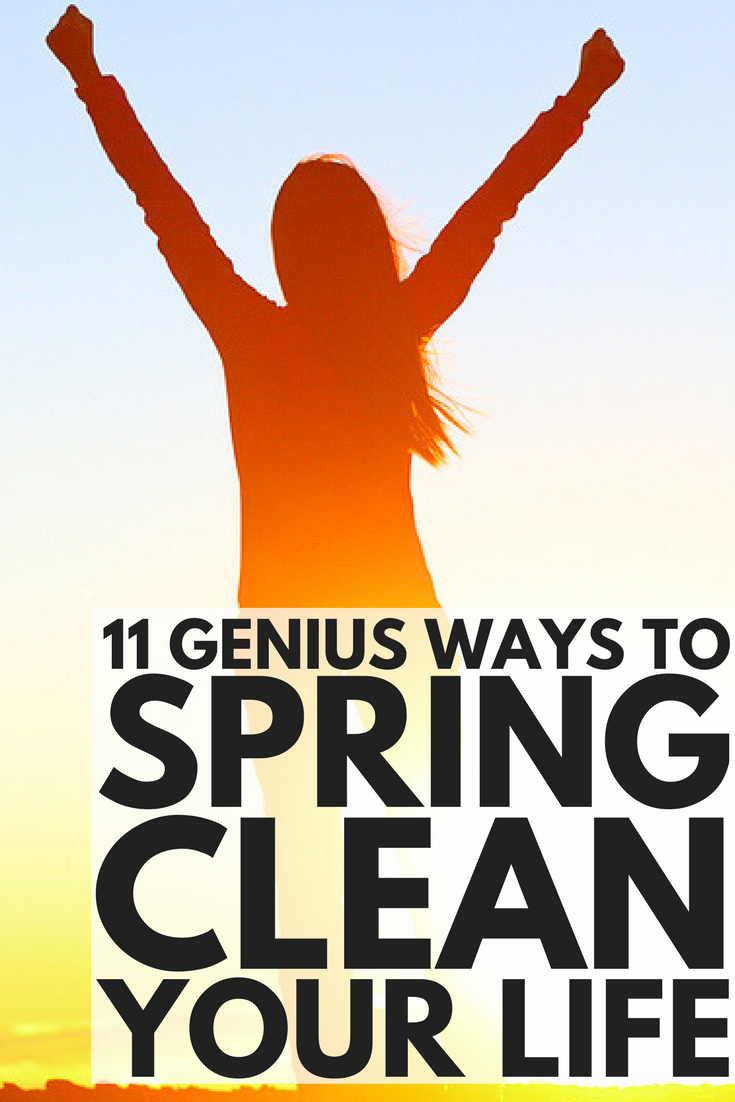 11 simple yet genius ways to spring clean your life! Whether you're looking for simple tips to deep clean your house in less time (think: vinegar, baking soda), need recommendations on cleanses, detoxes, and workout plans to motivate you to lose weight, want a list of the best beauty hacks to help you get ready in less time, need ideas to help you spend quality time with your kids, or want to know how to save money through financial planning, we've got all this and more!