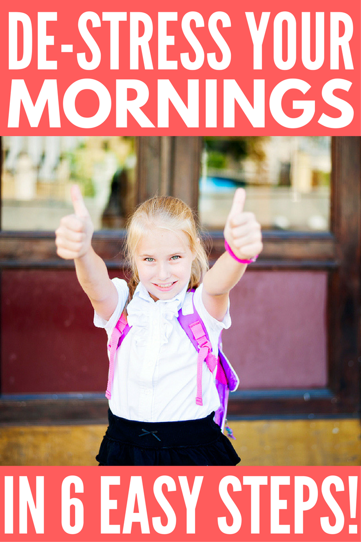 De-stress your morning routine with your kids and say NO to morning drama! Whether you're a stay-at-home mom or work outside the home, the morning rush before school can be hectic with little girls and boys running around...even if you have the perfect daily schedule. Check out 5 of our best tips and ideas for starting your day off on the right foot every single time!
