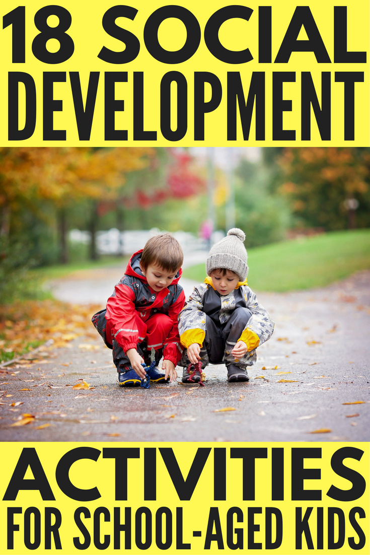 Looking for social development activities to help aid with early childhood development? We've got you covered. With 18 fun learning activities to choose from, this collection of ideas will help improve social skills for preschool, kindergarten, and school-aged kids both at home and in the classroom. Whether you're a parent or teacher, have children with special needs, or need social emotional development ideas, these social development activities are a great place to start!