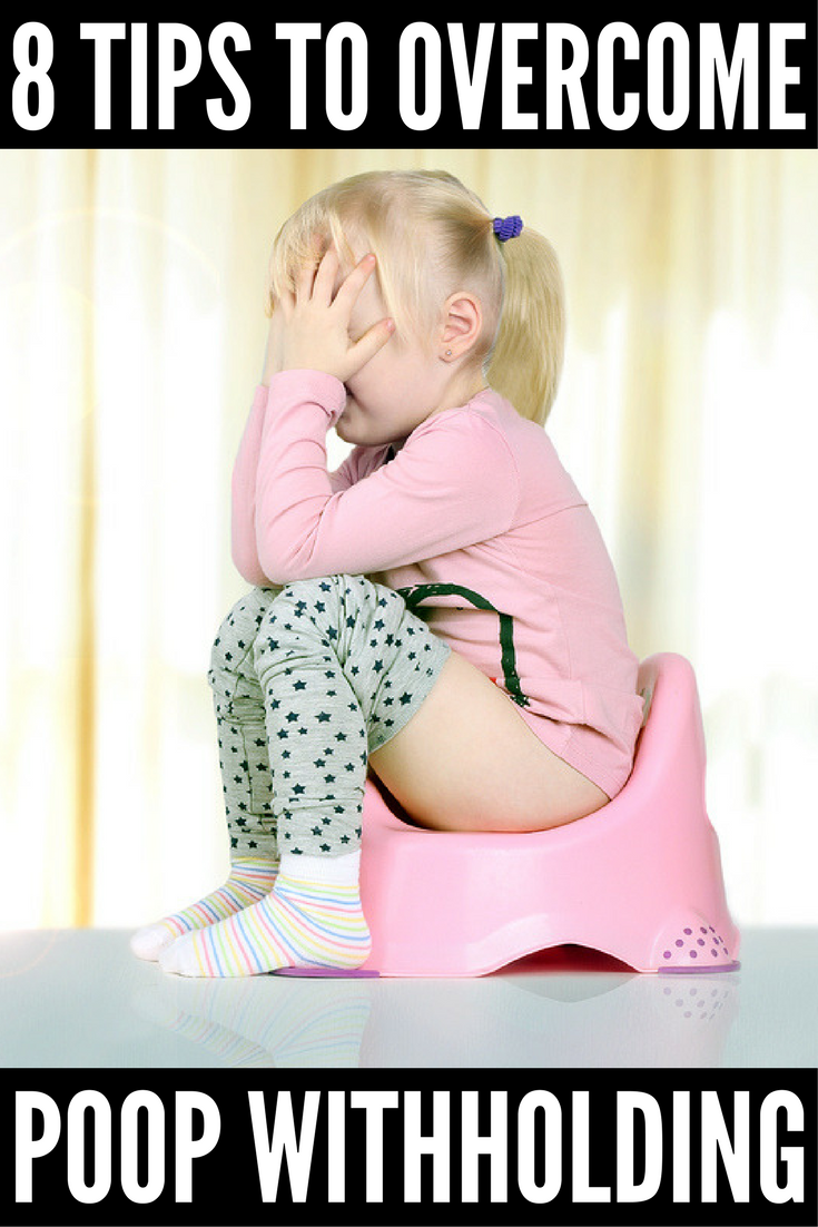 Child won't poop on the potty? You're not alone. While some parents are able to toilet train their kids early in 3 days (or less!), other children are more stubborn and require a little more TLC before they'll poo in the toilet. From rewards and sticker charts to books and magical potty training seats, we're sharing 8 of our best potty training tips to help your little one stop withholding his poop once and for all!