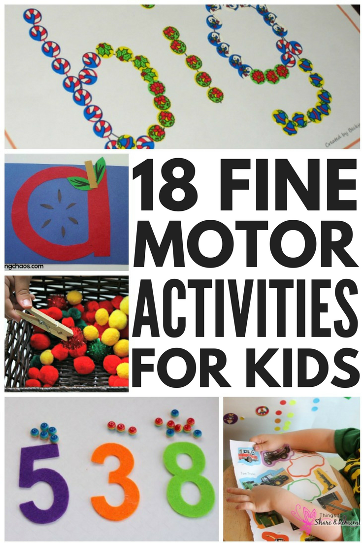 Looking for fine motor activities for kids? Look no further! Whether you're the parent of toddlers or kids in preschool, kindergarten, or grade 1 and beyond, the teacher of a child with autism or other special needs, or need some occupational therapy inspired activities to help develop handwriting skills and self-care tasks like buttoning buttons and zipping up zippers, we've got 18 fun and effective ideas to help strength the muscles in the hands, fingers, and wrists!