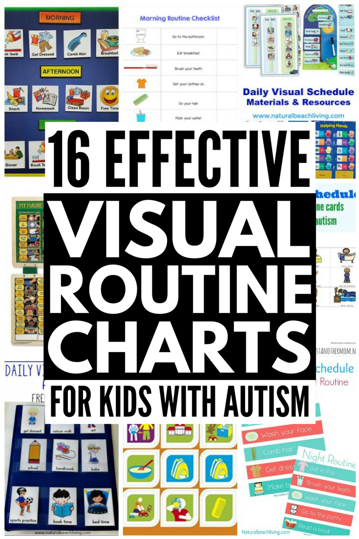 Visual Routine Chart Kids Autism 16 Ideas Visual Learners on Tips Tricks Visuals For S With