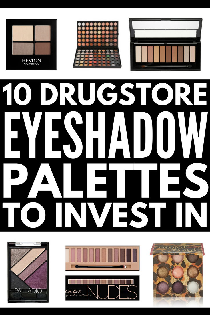 The Best Affordable Eyeshadow Palettes! | If you're looking for the best drugstore eyeshadow palettes, we've rounded up 10 affordable dupes you'll LOVE. When applied with the right primer and brushes, these matte and shimmer colors will pop, giving you a pigmented, gorgeous look day and night. From neutral tones to a dramatic burgundy smokey eye, you'll fall head over heels for these eyeshadows!