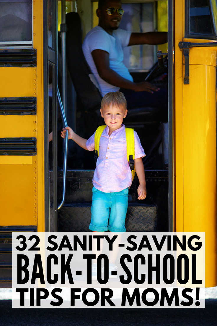 32 Back to School Tips and Tricks for Parents | Whether your kids are entering kindergarten, elementary school, middle school, or high school, this back to school survival guide for moms is full of tips and tricks for a smooth year. From sleep tips for kids, organization hacks for moms, and back to school anxiety tips, to homework help for parents and how to deal with bullies, we've got 32 back to school tips and tricks to make this your best year yet!