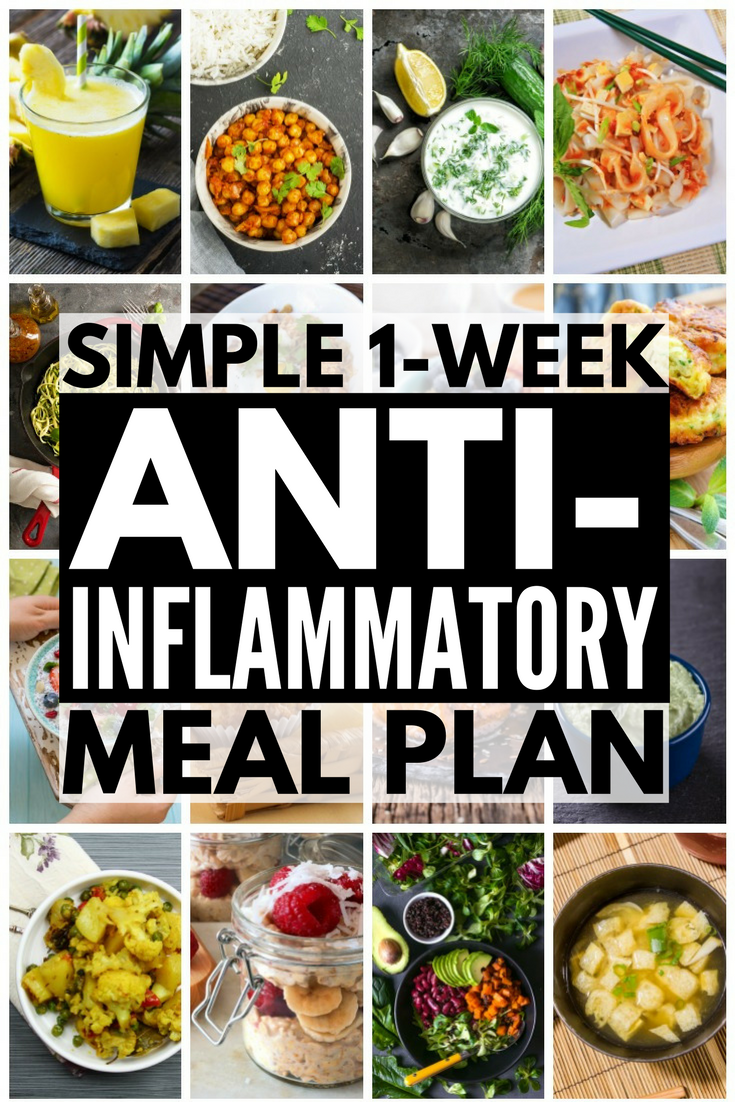 7-Day Anti-Inflammatory Diet for Beginners | Looking for an anti-inflammatory meal plan to help boost your immune system, keep your autoimmune disease under control, and aid in weight loss? We've put together a 7-day meal plan for beginners, complete with anti-inflammatory recipes and a list of anti-inflammatory foods to indulge in. With delicious breakfast, lunch, dinner, and snack recipes to choose from, combatting arthritis and chronic pain has never tasted better.