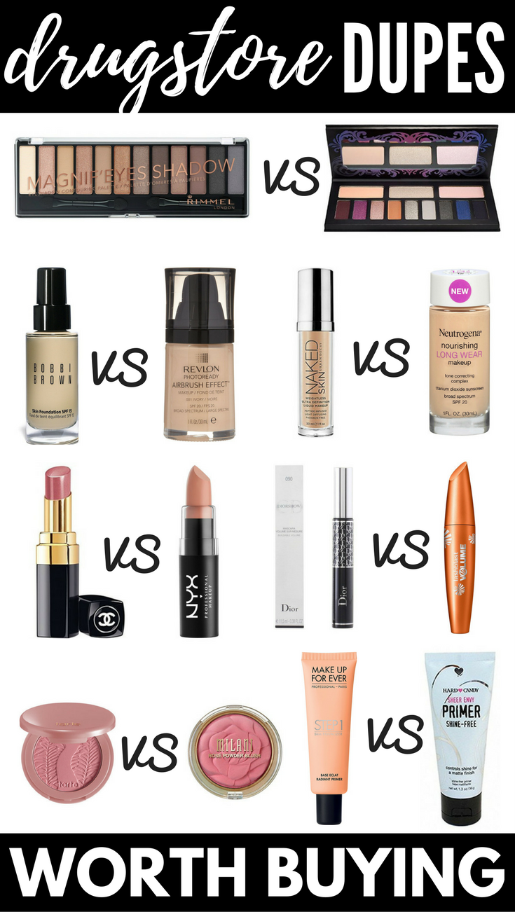 The Best Makeup Dupes 12 Drugstore Dupes For High End Products