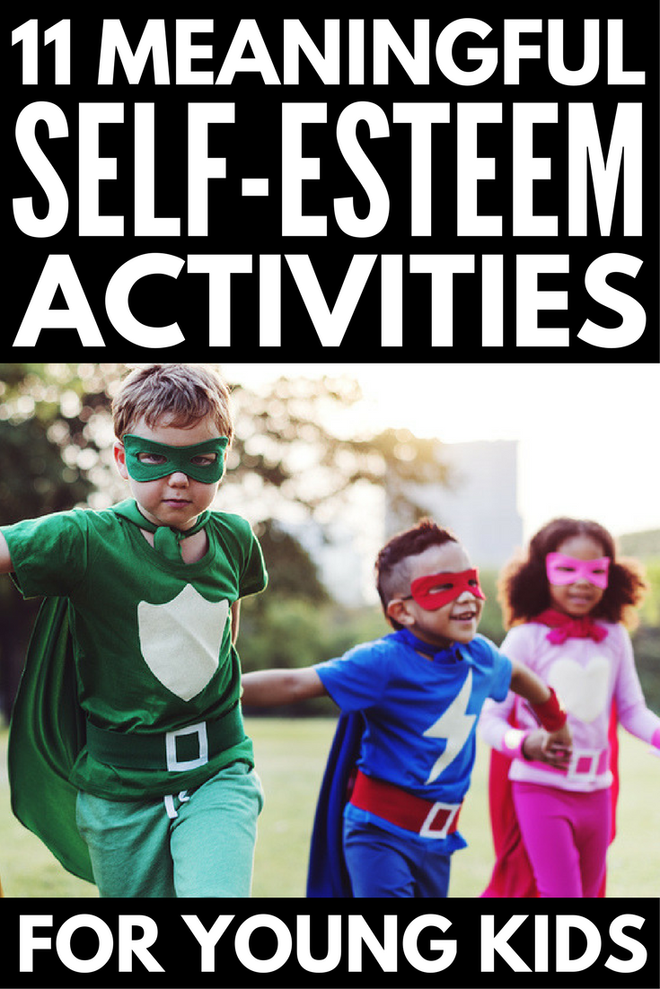 Self Esteem Activities for Kids: 11 Fun Ways to Develop Self-Respect | If you're on the hunt for games, crafts, teaching tools, and therapy ideas for girls and boys to help develop self-esteem and self-confidence, you've come to the right place! Perfect for parents, teachers, and even elementary school counsellors, this collection of self-esteem activities for kids is perfect for children in preschool, kindergarten, elementary school, and beyond.