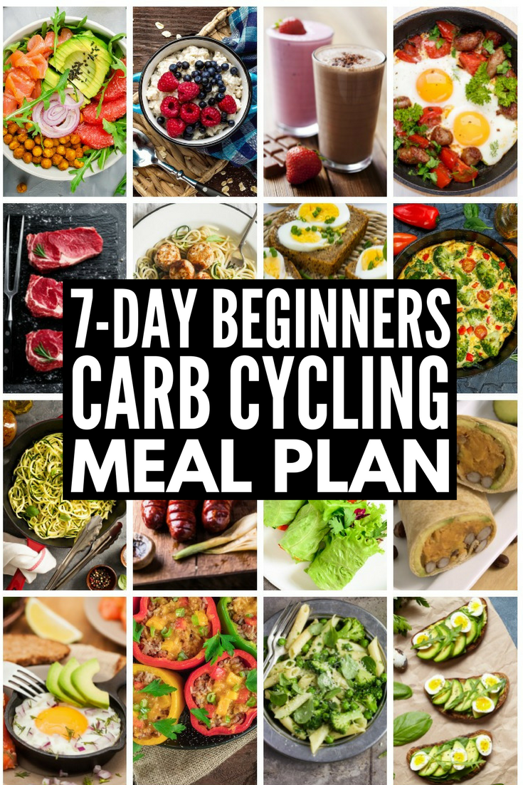 Carb Cycling for Weight Loss | Carb cycling can be an effective and easy tool for losing weight for women and for men alike, and we're sharing our favorite 7-day carb cycling meal plan, which is chock full of ideas and low carb recipes to help you get a lean, toned body. These recipes are the perfect compliment to the keto diet and we've even included a carb cycling food list!