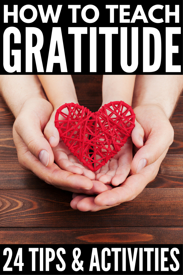 How to Teach Your Child Gratitude | Looking for fun activities to teach your children how to be grateful both in the classroom and at home? Check out this collection of 17 gratitude activities for kids and families! Complete with random acts of kindness and other simple ideas to teach your kids how to be grateful and appreciative, these thankful activities are perfect for Thanksgiving and beyond!