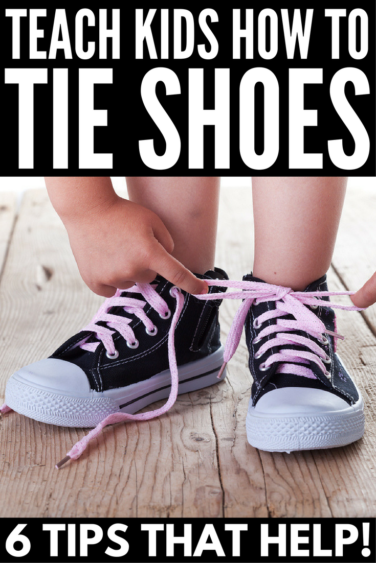 How to Teach a Child How to Tie Their Shoes | Teaching children how to tie their shoes so they can be successful in the classroom is no easy task. While bunny ears have helped many, we've got a step-by-step video with THE EASIEST shoe tying trick you'll ever see, as well as lots of fun fine motor activities and other awesome tips to set your kids up for success.