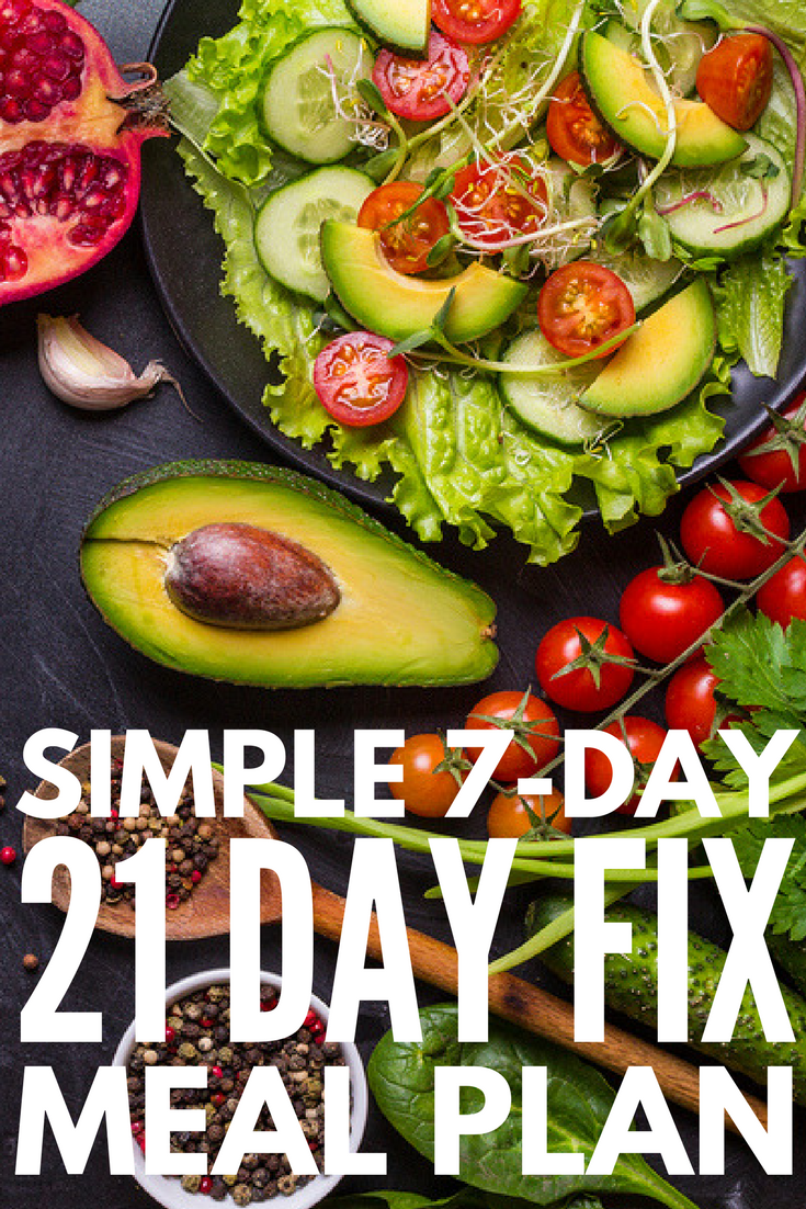 21 Day Fix Meal Plan For Beginners Sample 7 Day Kickstart