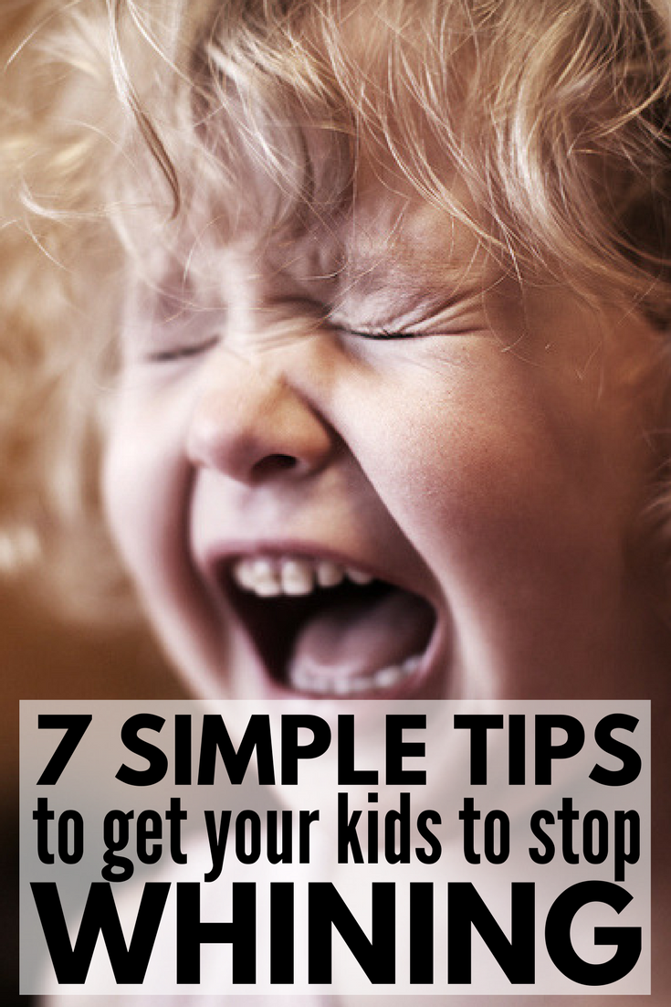 How to Stop Kids from Whining | Want to know how to get a child to STOP whining without yelling? Toddlers in particular are prone to crying and throwing temper tantrums when they can't get their way, but older kids can make parenting just as difficult! These sanity-savers for moms will give you parenting tips and strategies to help you manage big emotions, and prevent them from happening in the first place.