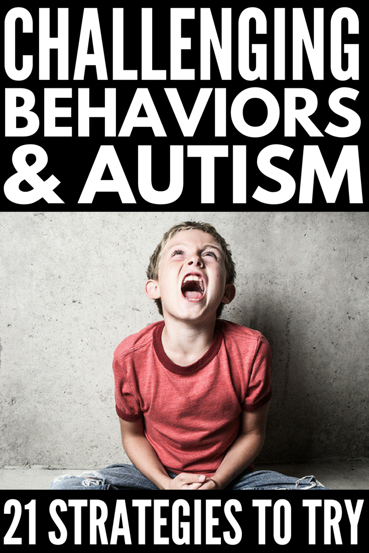 Challenging Behaviors and Autism | Looking for challenging behavior strategies to help your child with ASD and/or SPD? We're sharing our best tips to help you with things like autism and hair pulling, autism and scratching, autism and sleep, autism and picky eating, autism and aggression, and self-regulation. You don't want to miss these behavior management tips for kids with autism!