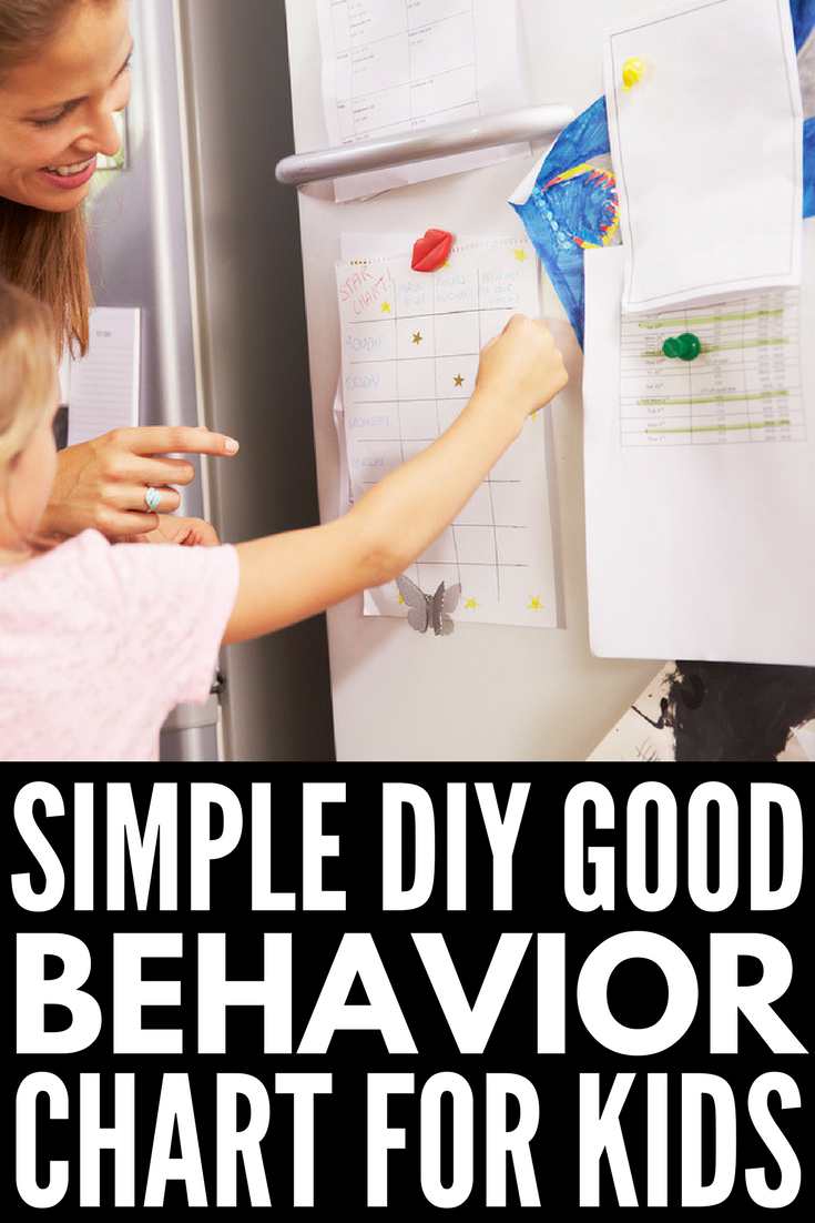 DIY Good Behavior Chart for Kids | Looking for a reward system to support your positive reinforcement efforts with children either at home or at school? Perfect for parents trying to control rambunctious boys, teachers trying to enforce classroom rules, and moms who desperately want their morning routines to run smoother, these ideas also work well with special needs kids with autism, ADHD, etc.