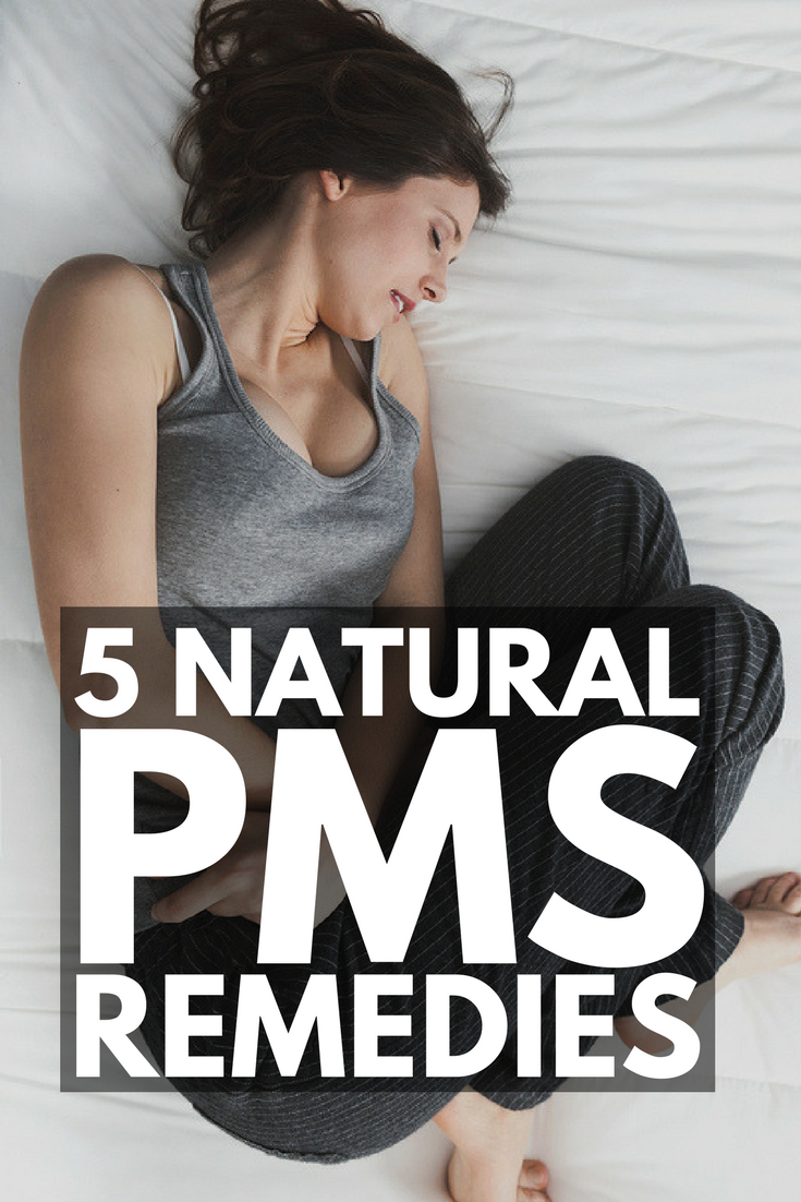 How to Get Rid of PMS | 5 natural remedies for PMS to help improve your mood, relieve period pains like cramps, fatigue, bloating, breast tenderness, and depression, and beat food cravings. From essential oils to natural teas to yoga, we'll help make your menstrual cycle…happier.